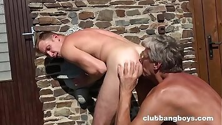 Grandpa cleans up Twink's Sweaty Ass Hole