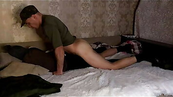 Russian soldier after the army fucks his roommate